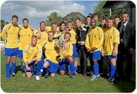 Lynn with their first silverware of the season - the  BGB League Championship. Click for larger image