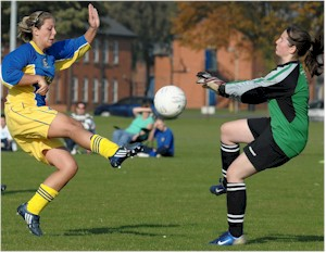 Action from KLFC Women v Bungay